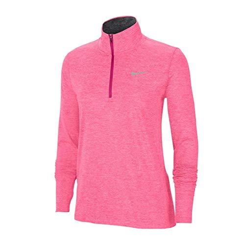 Nike Element Women's 1/2-ZIP R, FIR Fireberry/Sunset Pulse/Reflect - M