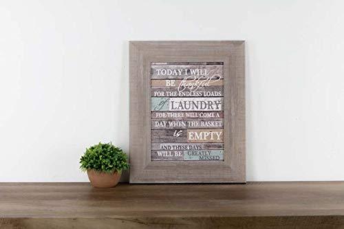 "Be Thankful For Laundry Room Decor Coral Aqua Children Barnwood Rustic Wood Decor 13x16"""