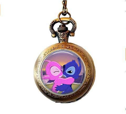 bab Stitch & Angel Kiss Taschenuhr Halskette