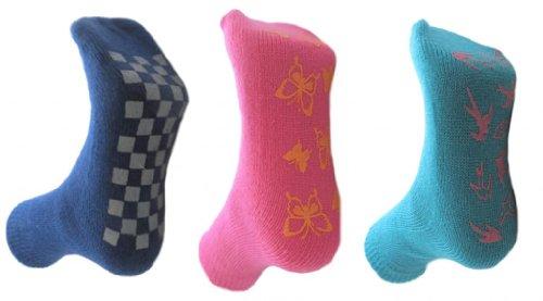 RJM 3 Paar Mädchen Non Skid Slipper Socken 37-39