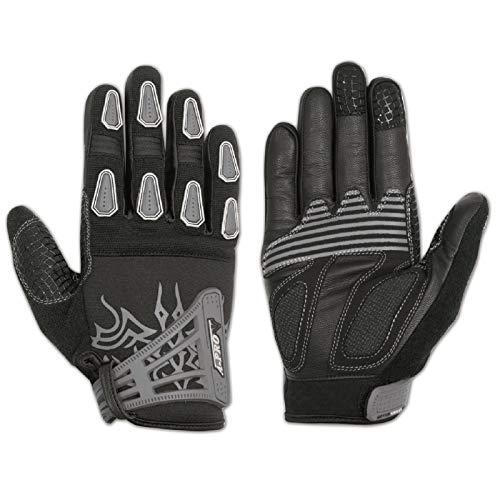 A-pro leren handschoenen, voor motorfiets, fiets, versterking, handpalm, grafiek, Spider Man XL grijs.