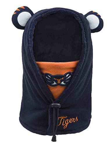 Echinodon Kinder Baby 3 in 1 Mütze/Mütze + Mundschutz + Schal Tiger-Form Jungen Mädchen Fleece Schalmütze Sturmmütze Winter Navy