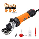 Sheep Shears Professional Animal Grooming Clippers 6 Speed Electric Shears,for Sheep Goat Llama