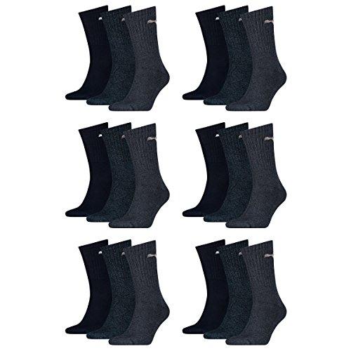 Puma 18 Paar Sportsocken Tennis Socken Gr. 35-49 Unisex für sie und ihn, Farbe:321 - navy, Socken & Strümpfe:43-46