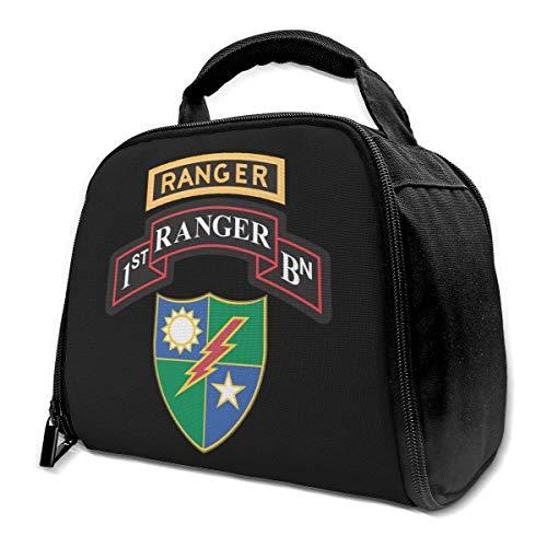 1. Battaillon 75. Ranger Regiment mit Ranger Isoliertasche Lunchtasche Isolierte Lunchbox Tote Bag Kühltasche für Picknick Arbeit