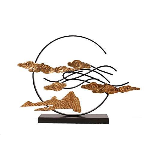 Rzeźba Ozdoby Dekoracja Metalowe Biuro Sprzedaży Lobby Hotelowe Zen Wejście Salon Rzeźba Dekoracja