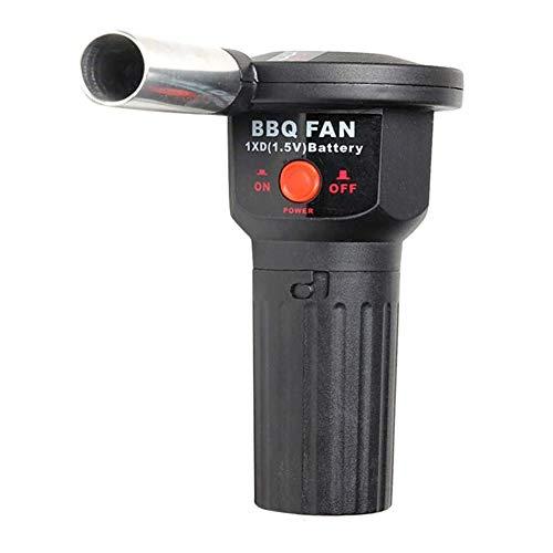 Dulau 1 Pieza Ventilador para Barbacoa, Ventilador Soplador de Aire para Barbacoa, Ventilador Portátil a Batería para Barbacoas, para Acampar Aire Libre Parrilla de Carbón de Leña
