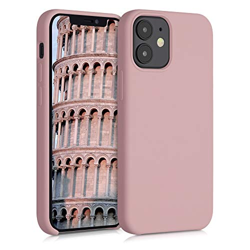kwmobile Hülle kompatibel mit Apple iPhone 12 Mini - Hülle Handyhülle gummiert - Handy Hülle in Rose Tan