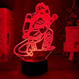 KangYD Figura de bombero de luz nocturna 3D, lámpara de ilusión LED, panel de...