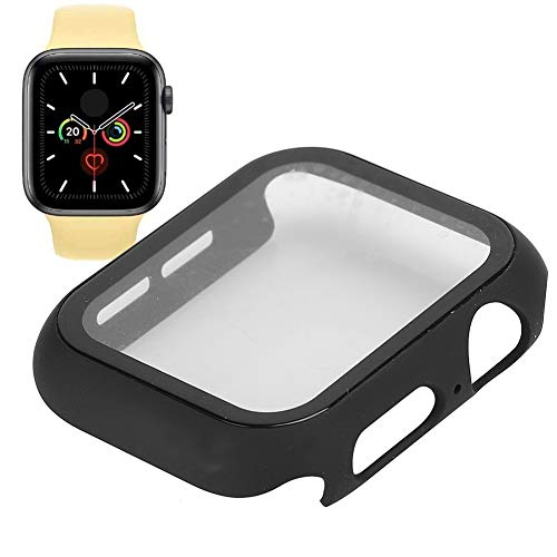 Uhrenschutz, schwarzes Displayschutzgehäuse für Uhrengehäuse aus gehärtetem Glas(42MM)