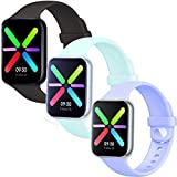 Lesampo 38mm 40mm 42mm 44mm iWatch Sport Bands Compatible with Apple Watch Series 5 4 3 2 1 and Compatible with Nike+ Watch (Coco-Lilac-Beryl, (38mm/40mm) S/M)