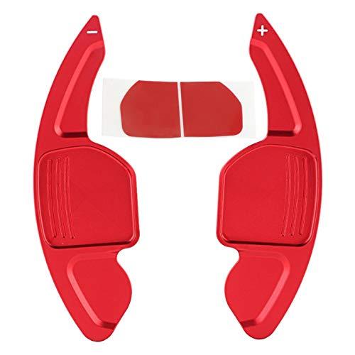 KIMISS Palancas de cambio de volante de 2 piezas Paletas de cambio de volante de coche de aleación de aluminio Palancas de cambio para A3 A4L A5 A6 A7 A8 Paletas de cambio