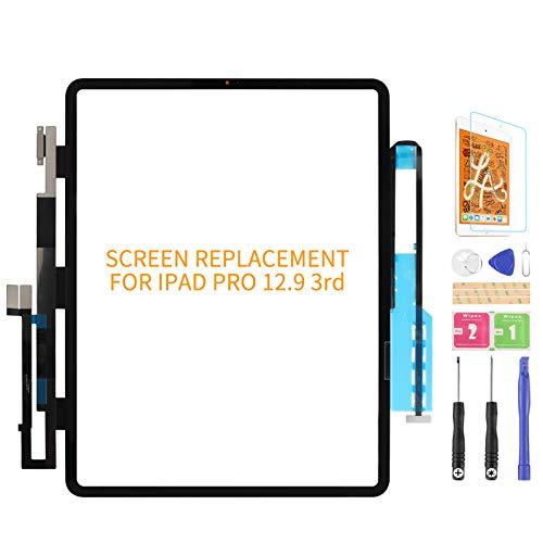 Para IPad pro 12.9 2018 3er reemplazo de pantalla táctil A2014 A1895 A1876 pantalla táctil digitalizador panel sensor de cristal kits