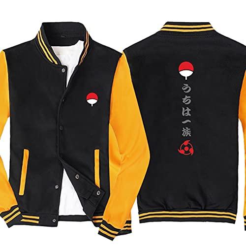 S-vision Chaqueta con Capucha para Hombre para Naruto Sudadera Estampada Uniforme de béisbol Chaqueta de Punto Casual de Manga Larga Chaquetas de chándal - Regalo para Adolescentes