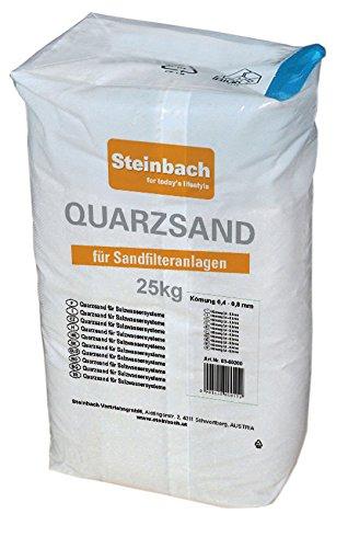 Steinbach Filteranlagenzubehör, Quarzfiltersand, DIN 4924 Körnung 0,4, 0,8 mm, 25kg, 040020
