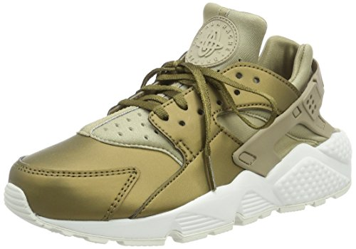 Nike Damen Air Huarache Run PRM Txt Gymnastikschuhe, Grün (Khaki/MTLC Field/Summit White), 38.5 EU