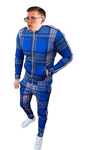 WBLKD 2021 New Mens Tacksuit De Manga Larga con Cremallera De Manga Larga para Chaqueta Gimnasio Deportes Joggers Pantalones F-M