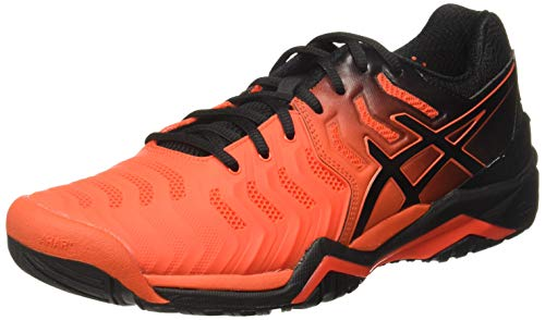ASICS Gel-Resolution 7, Scarpe da Tennis Uomo, Rosso (Cherry Tomato/Black 801), 40 EU