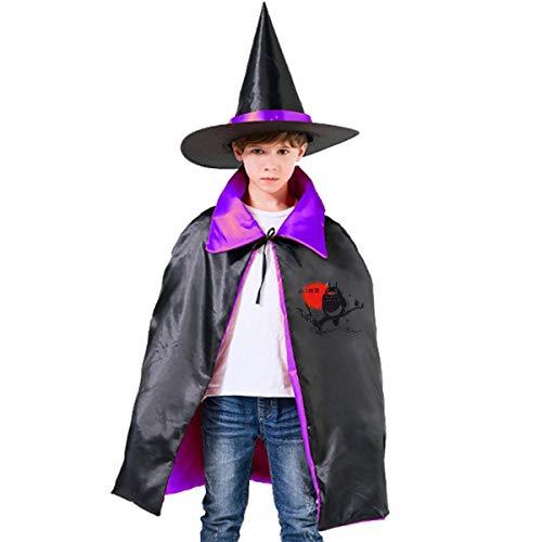 NUJSHF - Mantello con Cappuccio, Unisex, per Bambini, con Scritta in Lingua Inglese Spirit My Vicino Totoro Studio Ghibli, Decorazione per Feste di Halloween, Cosplay