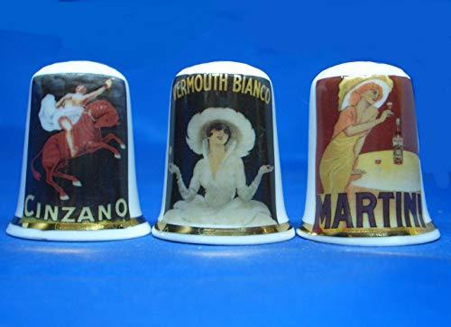 Porcellana Cinese Collezione ditali Set di tre papi