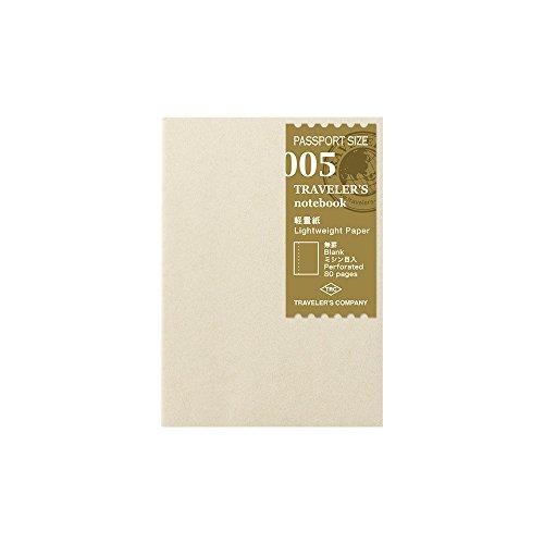 トラベラーズノート リフィル 軽量紙 2冊パック パスポートサイズ 14371006