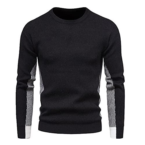 Primavera y otoño de los hombres suéter de punto jersey de cuello redondo de la camisa de fondo de los hombres suéter de cuello redondo