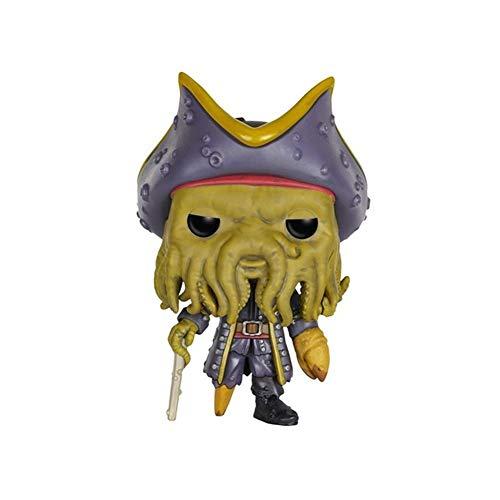 Youxin Piratas del Regalo en Caja Figura Caribe Capitán Davy Jones Pop Acción (10 cm)