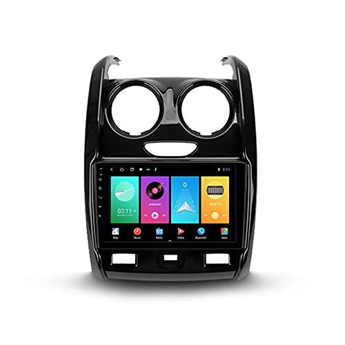 ADMLZQQ Autoradio Bluetooth 2 DIN Android Radio De Coche 9'' Pantalla Táctil 5G WiFi Plug and Play Soporte Carautoplay/GPS/Dab+/OBDII para Renault Duster 2015-2020,M150s
