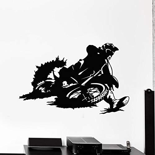 HGFDHG Deportes Extremos calcomanías de Pared Bike Racer Motocicleta Velocidad Garaje Agujero de Hombre decoración del hogar Vinilo Pegatina de Ventana Mural