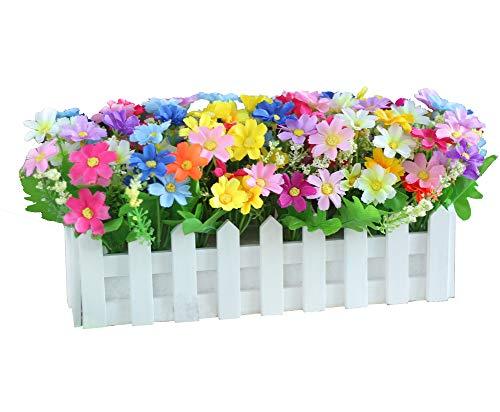 Flores Decorativas Artificial Seda Mini Flores y Plantas para la decoración de Interiores (Mucho Color) en una Planta de Vid Colgante Falso Falso Hojas Garland Home Garden Wall Potted 30cm, C