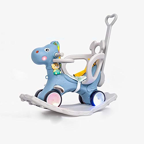 NXYJD Multi Function with Music Small Wooden Horse Rocking Horse Child Baby Baby Child Toddler Plastic Toy Car Chair Dual Use