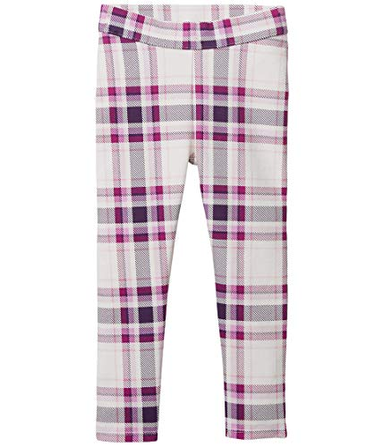 Janie and Jack Girl's Plaid Ponte Pants (Toddler/Little Kids/Big Kids) White 6 (Little Kids)