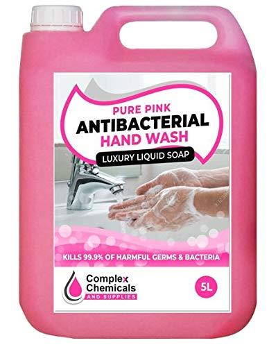 Antibakterielle Handwaschseife, 5 l, tötet Keime, reines Pink