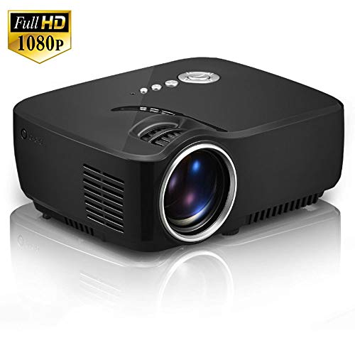 Proyector, Mini LED portátil Cinema Video Digital HD Home Theater Proyector Beamer Proyector, LED Max 150