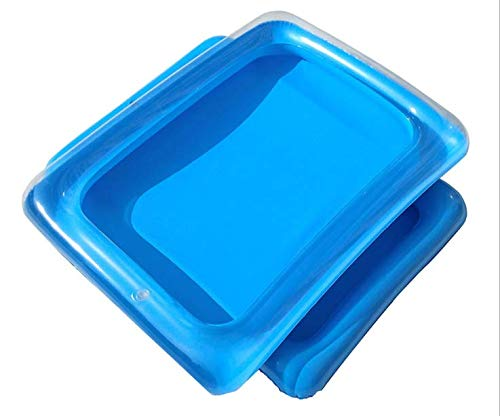 4 Pack Inflatable Salad, Food, Drink Buffet Cooler Tray Inflatable Serving Bar/Bufft Cooler Perfect for BBQ, Picnic, Pool Party