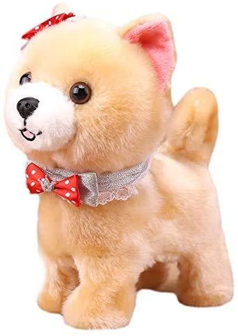 JIAL TEDS Roboterhunde sprechen Wanderrinde Interaktive Spielzeug Hund Spielzeug Elektronik Sound Control Plüsch Hundespielzeug für Kinder Geburtstagsgeschenke Chongxiang (Color : Default)