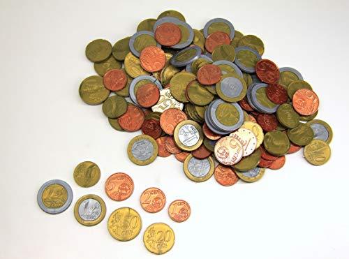 WISSNER aktiv lernen-160 EURO Rechengeld Münzen Monedas de 160 euros-RE-Plastic, multicolor...