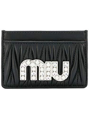 Luxury Fashion | Miu Miu Woman 5MC2082BSQF0002 Black Leather Card Holder | Spring Summer 20