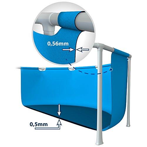 Paris Prix Intex - Piscine Hors-Sol Tubulaire Rectangulaire Métal Frame 450x220cm Bleu