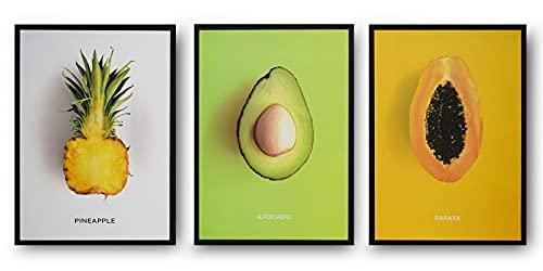 Wall Art Set di 3 quadri moderni per la casa, minimalista astratta immagini per camera da letto,...