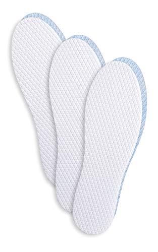Semelles de chaussure désodorisantes ultra fraîches Inserts avec micro-capsules, semelles de chaussure absorbant les odeurs, testé dermatologiquement, sans allergène, paquet de 3 paires, fabriqué en Europe, Kaps Fresh Step (35-37 EUR)