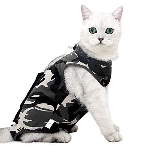 Gofeibao Katzenbody Nach Op Katzenbody Chirurgischer Hundeanzug nach der Kastration Katzenmäntel für Haustiere Hundekörperanzug nach der Operation M