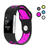 Yometome Pour Fitbit Charge 2 Bracelet Sport, Replacement Band Bracelet Charge2 Homme...