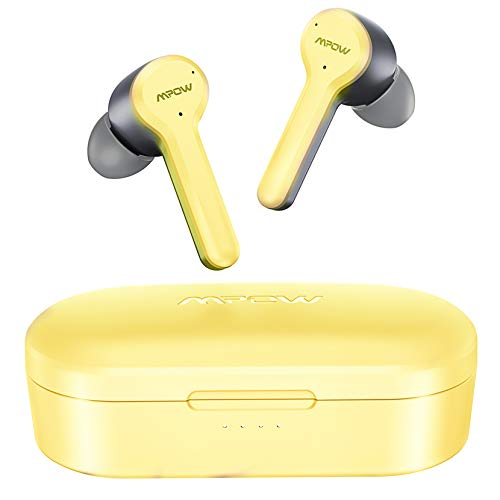 Wireless Earbuds, Mpow M9 Earphones Pink w/4-mic Noise Cancelling CVC 8.0 Bluetooth 5.0 in-Ear, Touch Control Stereo Bass Sports Headphones, 40H Playing Time/USB-C/IPX8 Waterproof, Single/Twin Mode Visit the Mpow Store