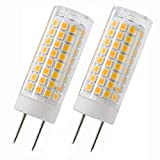 G8 LED Bulbs, GY8.6 Dimmable 110V 7W Energy Saving Light Bulbs (75W Halogen Equivalent) for Under Counter Kitchen Lighting, Under-Cabinet Light, Puck Light, 2-Pack (Warm White)