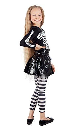 Boland- Costume Scheletro Skeleton Girl per Bambini, Nero/Bianco, 4-6 anni, 78075