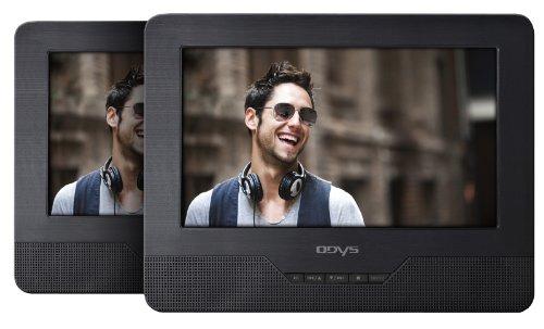 Odys Seal 7 tragbarer DVD-Player mit zusätzlichem Bildschirm 17,8 cm (7 Zoll) TFT-Display, USB, SD-Card) schwarz
