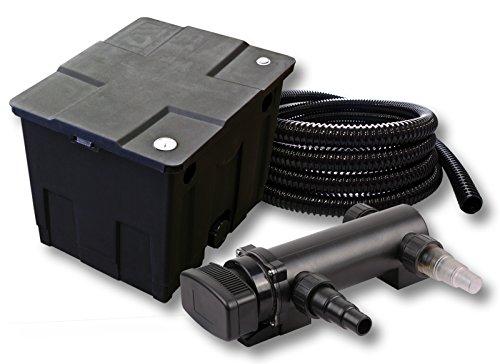 SunSun 1-Kammer Filter Set für 12000l Teich mit 18W UVC 3er Teichklärer und 5m Schlauch