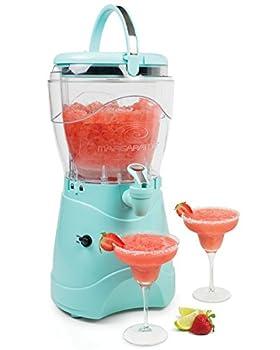 Nostalgia Margarita & Slush Machine Makes 1 Gallon of Drinks Easy-Flow Spout With Carry Handle Aqua