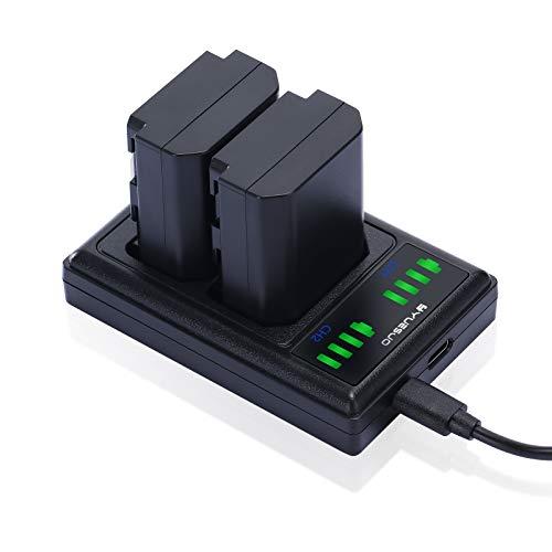 NP-FZ100 Sostituzione Batteria YUEUO 2-Pack Camera di ricambio Batterie e Smart Dual Charger per Sony NP-FZ100 e Sony Alpha 9 A9 9R A9S A9S, A7RIII, A7R3, a7III, A7R4, A7RIV…